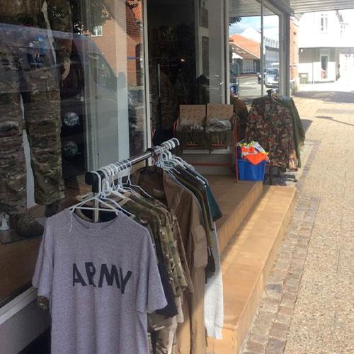 Armywear shop skjern