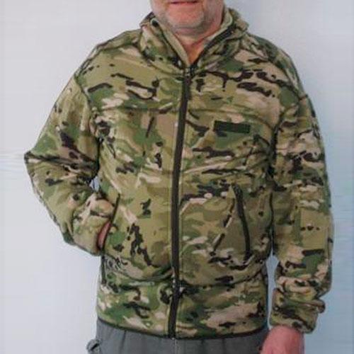 Fleecejakke i camouflage