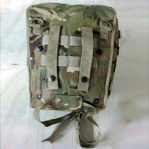 Engelsk taske til beskyttelsemaske brugt