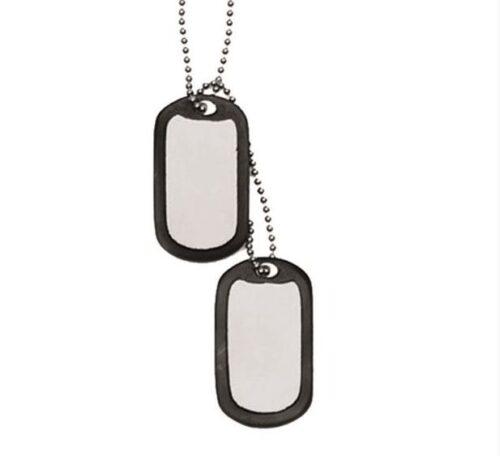 """US """"Hundetegn"""" til soldater incl. lyddæmpende gummiringe"""
