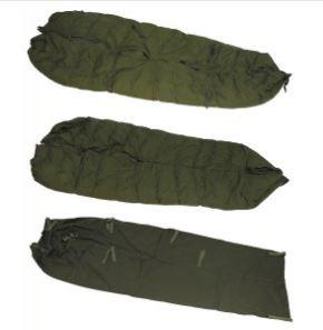 Tysk vinter sovepose ned til ca. -35 grader, 4-dele, med lagerspor – brugt